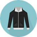 Coat, fashion, Overcoat, Garment, winter, Clothes, clothing, jacket SkyBlue icon