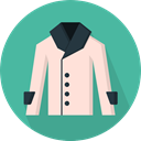 Clothes, clothing, Coat, fashion, Garment, Trench Coat CadetBlue icon