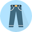 Clothes, Jeans, trousers, fashion, pants, Garment PaleTurquoise icon