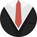 Suit, Tie, Clothes, fashion, Garment DarkSlateGray icon