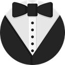 Suit, men, wedding, style, fashion, tuxedo, vip DarkSlateGray icon