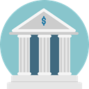 Business, Finance, Money, Architecture And City, Business And Finance, Building, Bank, savings, banking SkyBlue icon