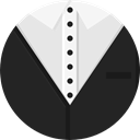 fashion, Garment, Suit, Tie, Clothes DarkSlateGray icon
