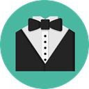 Suit, men, wedding, style, fashion, tuxedo, vip CadetBlue icon