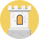Monument, Fantasy, medieval, Monuments, Castle, fortress, Construction, buildings SandyBrown icon