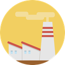 industry, landscape, buildings, Factory, Industrial, pollution, Contamination SandyBrown icon