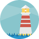 buildings, Architecture And City, Orientation, Lighthouse, tower, Guide SkyBlue icon