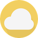 Computer, Cloud, weather, Cloudy, sky, Cloud computing SandyBrown icon