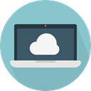 Cloud computing, file storage, Cloud storage, Data Storage, Laptop, Multimedia, Computer, technology SkyBlue icon