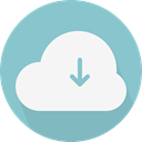 Computer, Cloud, weather, Cloudy, sky, Cloud computing SkyBlue icon