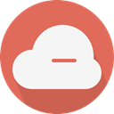 Computer, Cloud, weather, Cloudy, sky, Cloud computing IndianRed icon