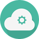 Computer, Cloud, weather, Cloudy, sky, Cloud computing CadetBlue icon