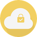 Cloudy, sky, Cloud computing, Computer, Cloud, weather SandyBrown icon