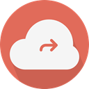 Cloudy, sky, Cloud computing, Computer, Cloud, weather IndianRed icon