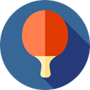 ping pong, Sports And Competition SteelBlue icon