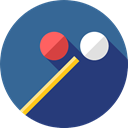 entertainment, Sports And Competition, stick, sport, pool, objects, sports, Billiard SteelBlue icon