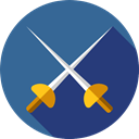 saber, Olympic Games, Sports And Competition, sports, swords, Fencing, foil, weapons SteelBlue icon