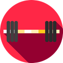 sports, fitness, weightlifting, strength, gymnasium, Sports And Competition Crimson icon