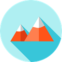 mount, Ascent, Sports And Competition, flag, nature, Climbing, Climb PaleTurquoise icon