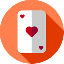 Cards, poker, gaming, Casino, gambling, Hobbies And Free Time Coral icon