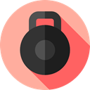 sports, weightlifting, exercise, Gymnastic, Sports And Competition, Kettlebell LightPink icon