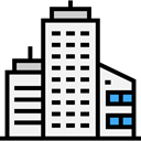 Skyscrapers, Cityscape, Architecture And City, town, buildings, Architecture, urban, city WhiteSmoke icon