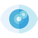 view, medical, interface, Eye, visible, Visibility, Healthcare And Medical PaleTurquoise icon