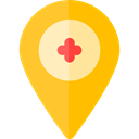 Map Location, Map Point, Maps And Location, pin, placeholder, signs, map pointer, interface Gold icon