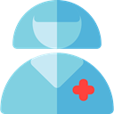 people, Occupation, Health Care, Professions And Jobs, user, doctor, medical, woman, Avatar, job, Surgeon, profession SkyBlue icon