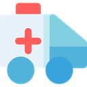 medical, transportation, transport, vehicle, Ambulance, emergency, Automobile, Healthcare And Medical AliceBlue icon