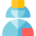 Professions And Jobs, people, user, medical, woman, Assistant, Avatar, job, Nurse, profession, Occupation SkyBlue icon