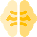 medical, Brain, Body Part, Body Organ, Brain Anterior, Anterior Part, Human Brain, Healthcare And Medical, people Khaki icon