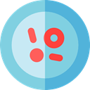 Petri Dish, Healthcare And Medical, education, Biology, Experimentation, Laboratory Equipment SkyBlue icon
