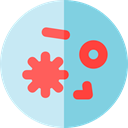 virus, education, Biology, Bacteria, Healthcare And Medical, science SkyBlue icon