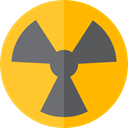 Energy, Alert, power, nuclear, industry, Radioactive, radiation, signs Orange icon