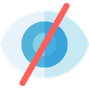 Multimedia, Hide, Multimedia Option, Body Part, Ophthalmology, Healthcare And Medical, interface, Eye, optical, Blind PaleTurquoise icon