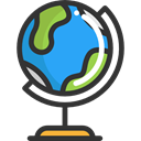 Earth Grid, Maps And Location, planet, Geography, Maps And Flags, Planet Earth, Earth Globe DarkSlateGray icon