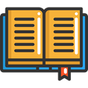 Book, Books, Library, education, reading, study, Literature, open book DarkSlateGray icon