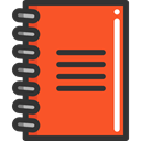 Agenda, interface, education, bookmark, Address book, Notebook, Business Tomato icon