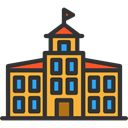 school, education, buildings, college, High School, Architecture And City DarkSlateGray icon