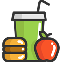 Apple, food, Lunch, Fruit, soda, diet, Food And Restaurant DarkSlateGray icon