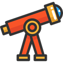 space, telescope, Tools And Utensils, science, education, Observation DarkSlateGray icon