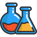 laboratory, Flasks, education, Chemistry, chemical DarkSlateGray icon