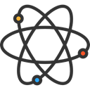 science, Atomic, education, nuclear, Electron, physics DarkSlateGray icon