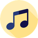music, interface, music player, song, musical note, Quaver, Music And Multimedia Moccasin icon