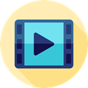 movie, Multimedia, Arrows, music player, ui, Play button, video player, Multimedia Option Moccasin icon