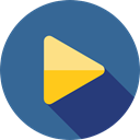 Arrows, music player, ui, Play button, movie, Multimedia, video player, Multimedia Option SteelBlue icon