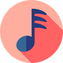song, musical note, Quaver, Music And Multimedia, music, interface, music player LightPink icon