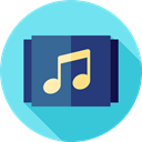 music, interface, music player, song, musical note, Quaver, Music And Multimedia SkyBlue icon