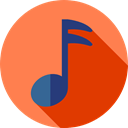 Minim, Semiquaver, Music And Multimedia, Multimedia, musical notation, Musical  Note, Whole Note Coral icon